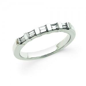Baguette Cut Diamond Anniversary Rings