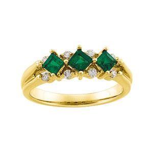 Diamond Gemstone Anniversary Rings  (0.125 Ct. tw.) (0.125 Ct. tw.)