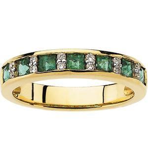 Diamond Gemstone Anniversary Rings  (0.1 Ct. tw.) (0.1 Ct. tw.)