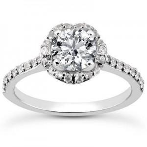 Elegant Engagement Wedding Ring in 14K Yellow Gold