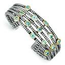 London Blue Topaz Cuff Bracelet in Sterling Silver