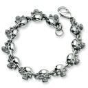 Skull Bracelet in Stainless Steel
