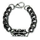 Antiqued Gothic Bracelet in Stainless Steel