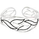 Spinel Diamond Cuff Bracelet in Sterling Silver (0.17 Ct. tw.) (0.17 Ct. tw.)