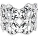 Inch Black White Diamond Cuff Bracelet in Sterling Silver (1.33 Ct. tw.)