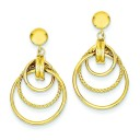 Twisted Circle Fancy Post Earrings in 14k Yellow Gold