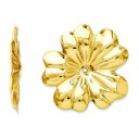 Floral Earrings Jackets in 14k Yellow Gold
