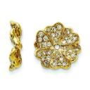 Diamond Earring Jacket in 14k Yellow Gold