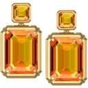 Citrine Earrings in 14k White Gold