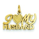 I Heart My Husband Charm in 14k Yellow Gold