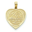 Back Talking Happy Anniversary In Heart Pendant in 14k Yellow Gold