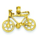 Bicycle Pendant in 14k Yellow Gold
