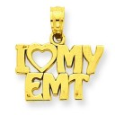 I Love My EMT Pendant in 14k Yellow Gold