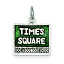 Times Square Charm in Sterling Silver