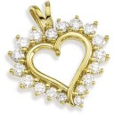 Diamond Heart Pendant in 14k Yellow Gold (0.5 Ct. tw.) (0.5 Ct. tw.)