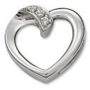 Diamond Heart Pendant in Platinum (0.03 Ct. tw.)