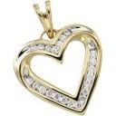 Diamond Heart Pendant in 14k Yellow Gold (0.25 Ct. tw.) (0.25 Ct. tw.)