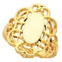 Filigree Signet Ring in 14k Yellow Gold
