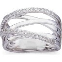 Overlapping Openwork Diamond Ring in 14k White Gold (0.33 Ct. tw.) (0.33 Ct. tw.)
