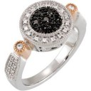 Black White Diamond Ring in 14k Two-tone Gold (0.25 Ct. tw.) (0.25 Ct. tw.)