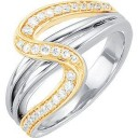 Diamond Ring in 14k Two-tone Gold