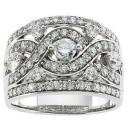 Pave Diamond Anniversary Rings (1.5 Ct. tw.) (1.5 Ct. tw.)