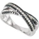 Pave Diamond Anniversary Rings (0.625 Ct. tw.) (0.625 Ct. tw.)