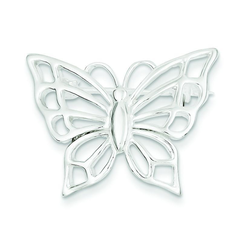 Butterfly Pin in Sterling Silver