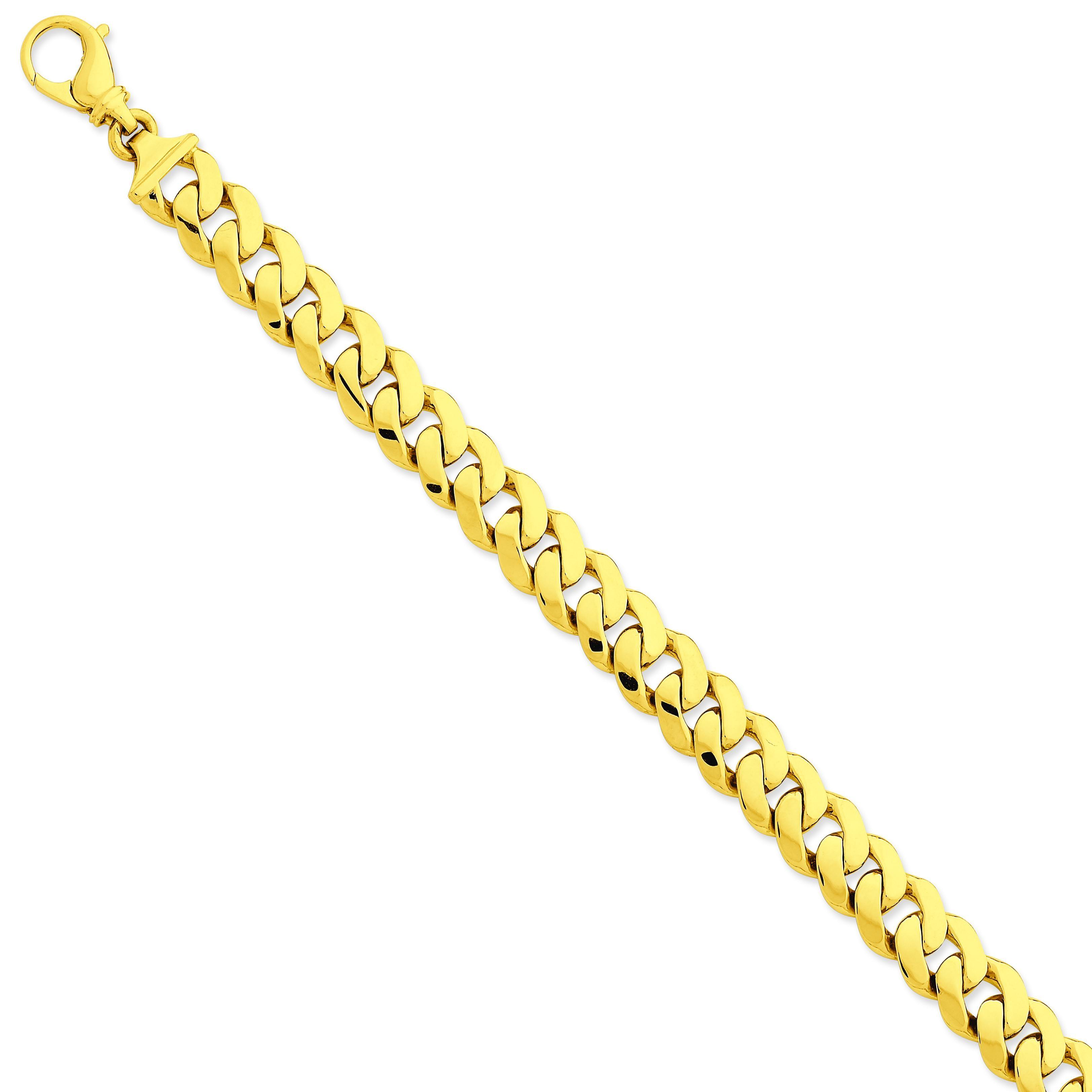 10.75mm Link Bracelet in 14k Yellow Gold