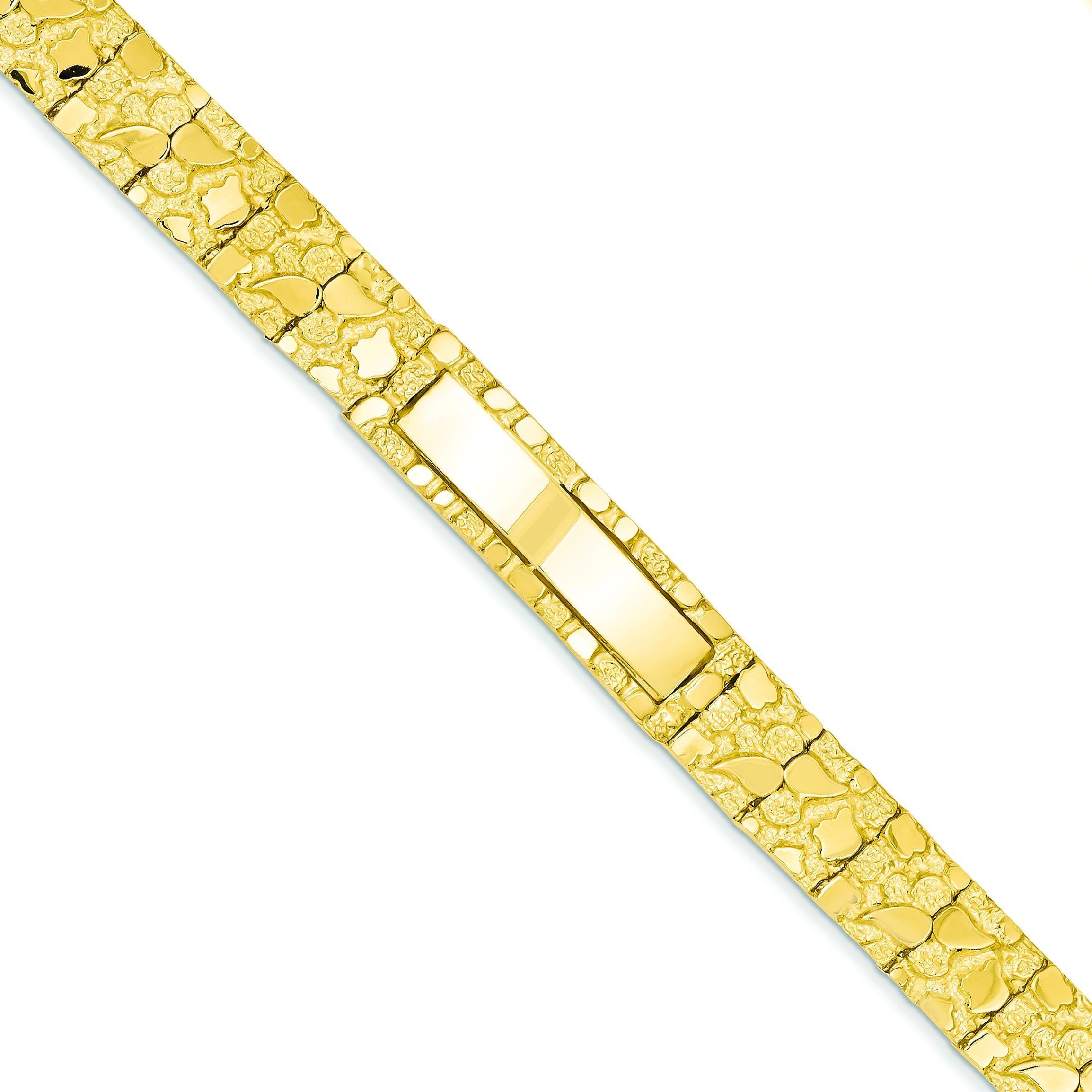 Nugget ID Bracelet in 14k Yellow Gold