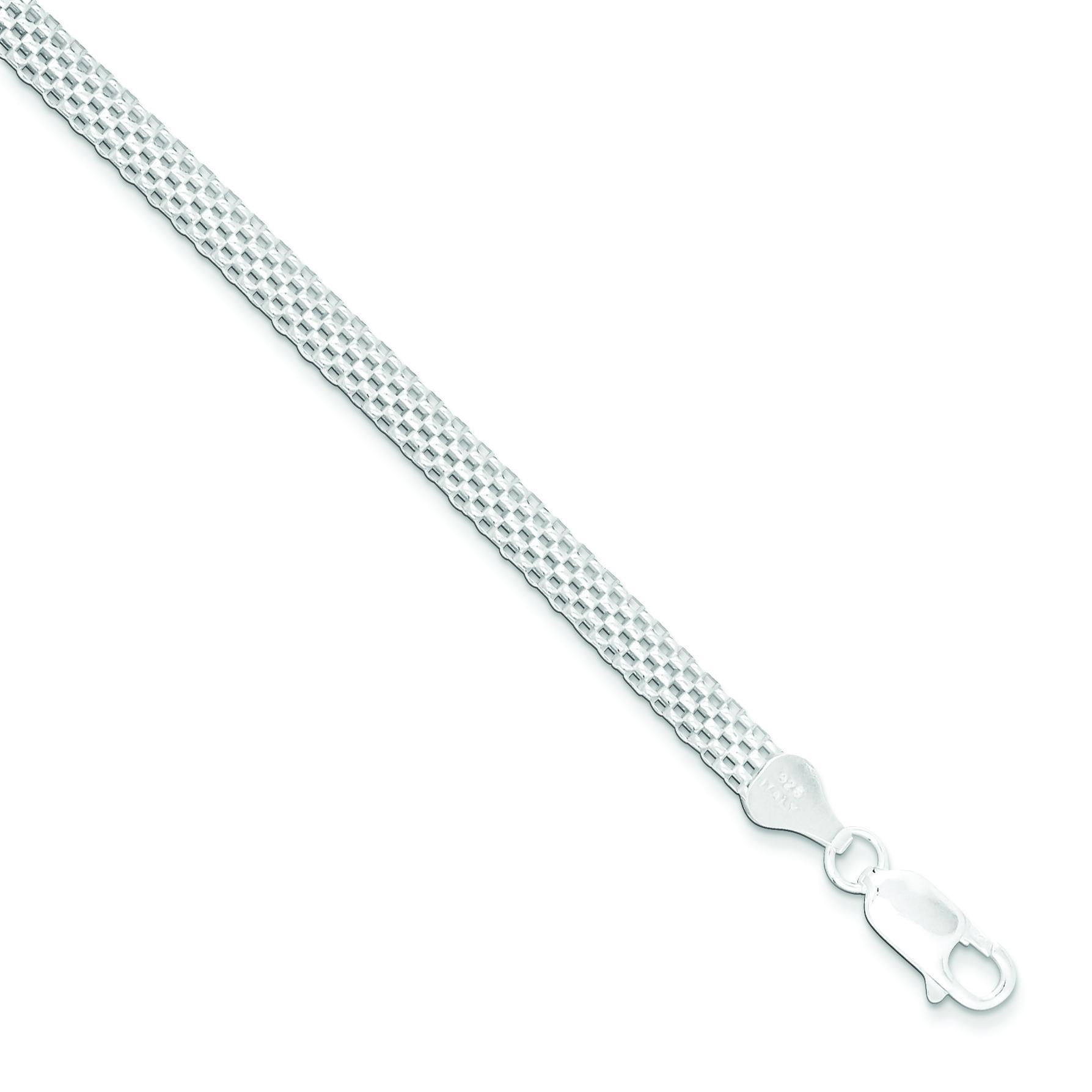 5mm Mesh Bracelet in Sterling Silver