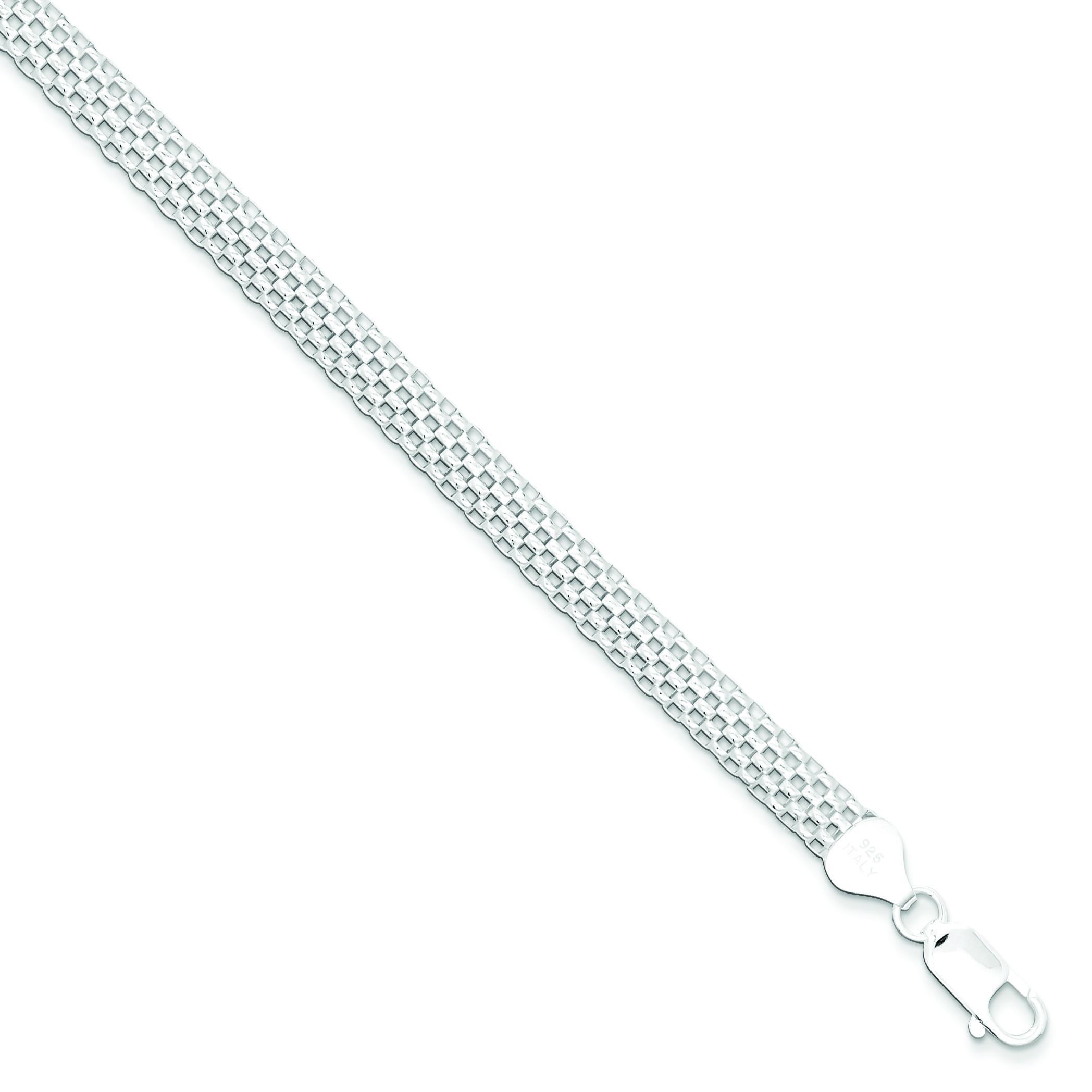 Mesh Bracelet in Sterling Silver