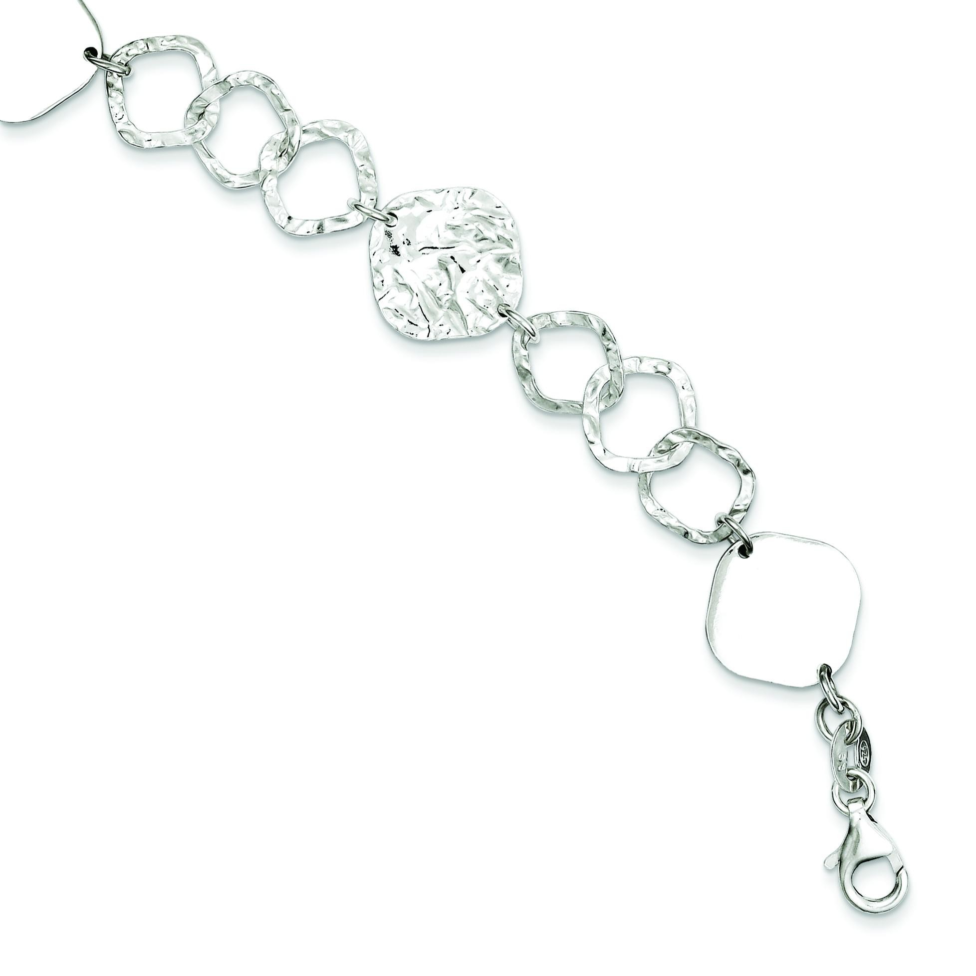 Polished Fancy Link Bracelet in Sterling Silver