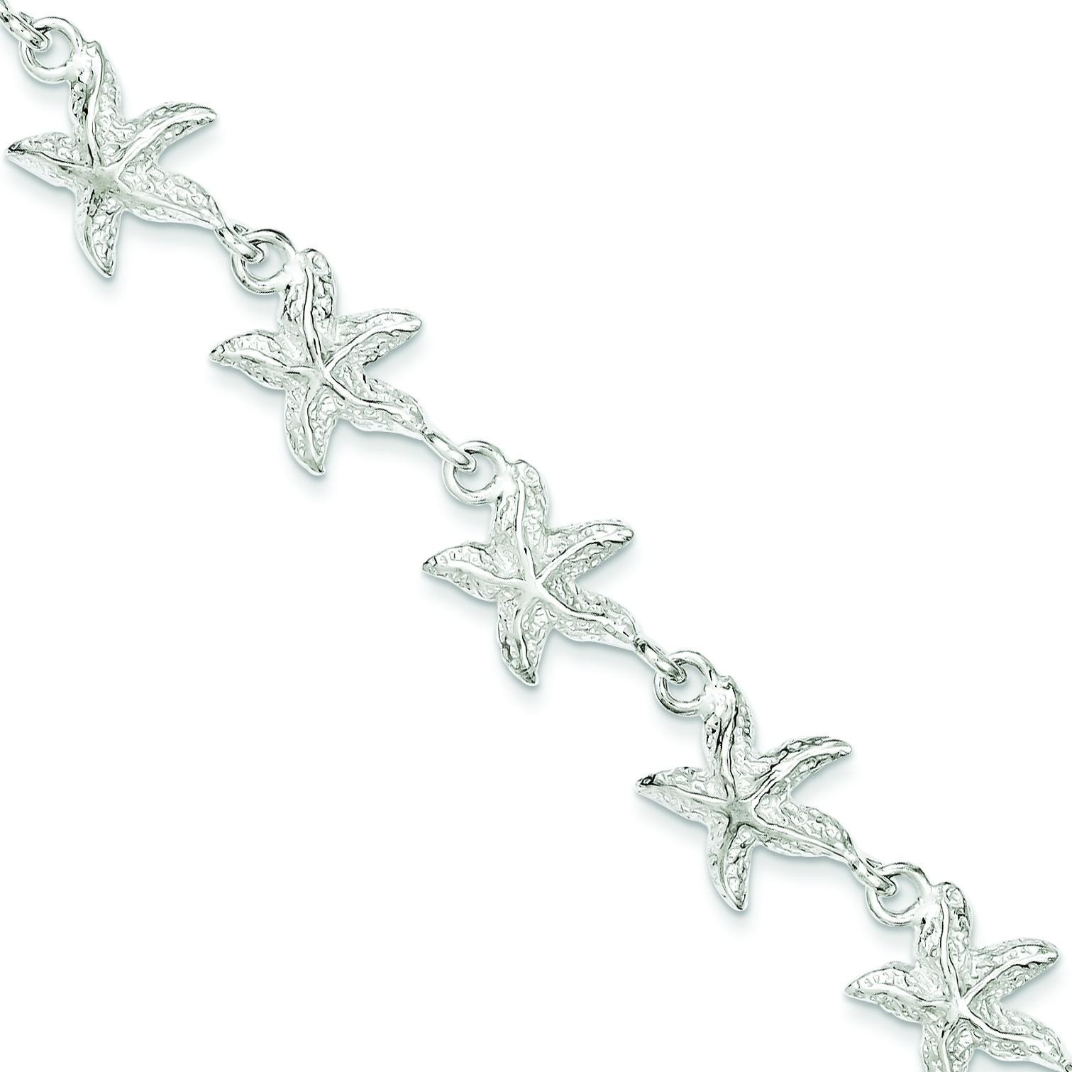 Starfish Bracelet in Sterling Silver