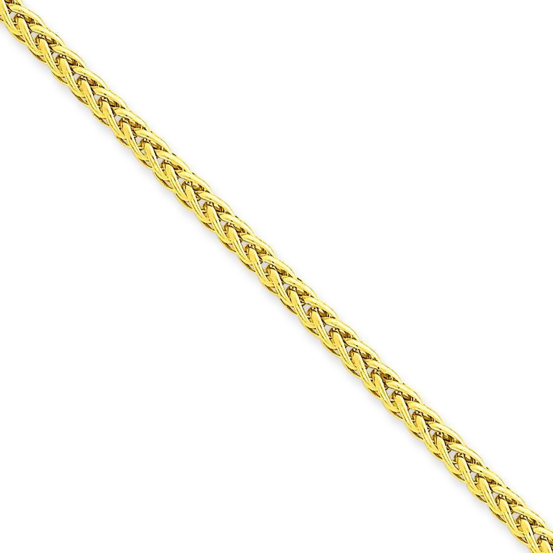 14k Yellow Gold 16 inch 2.60 mm Light Wheat Choker Necklace