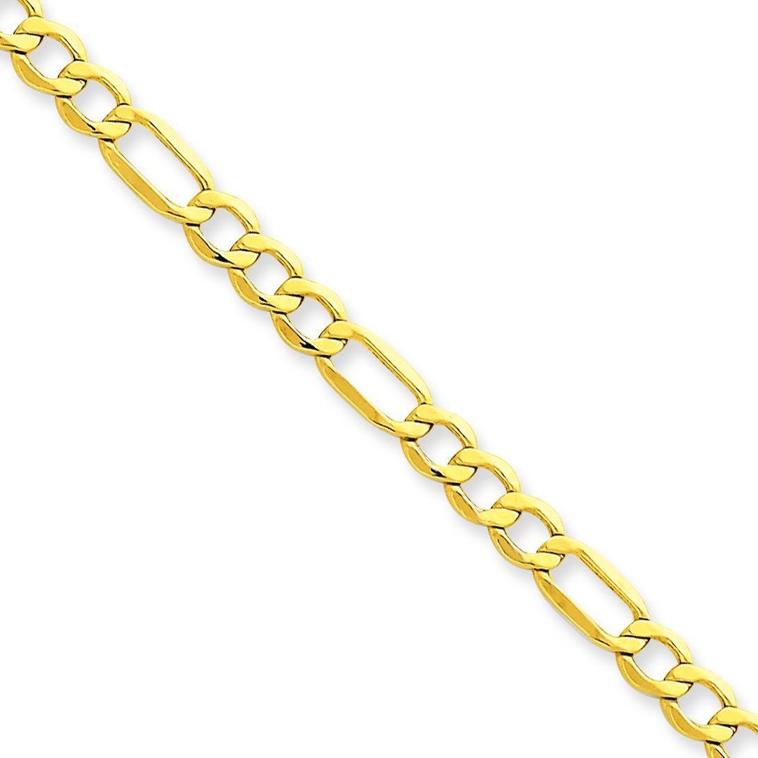 14k Yellow Gold 7 inch 4.75 mm Light Figaro Chain Bracelet