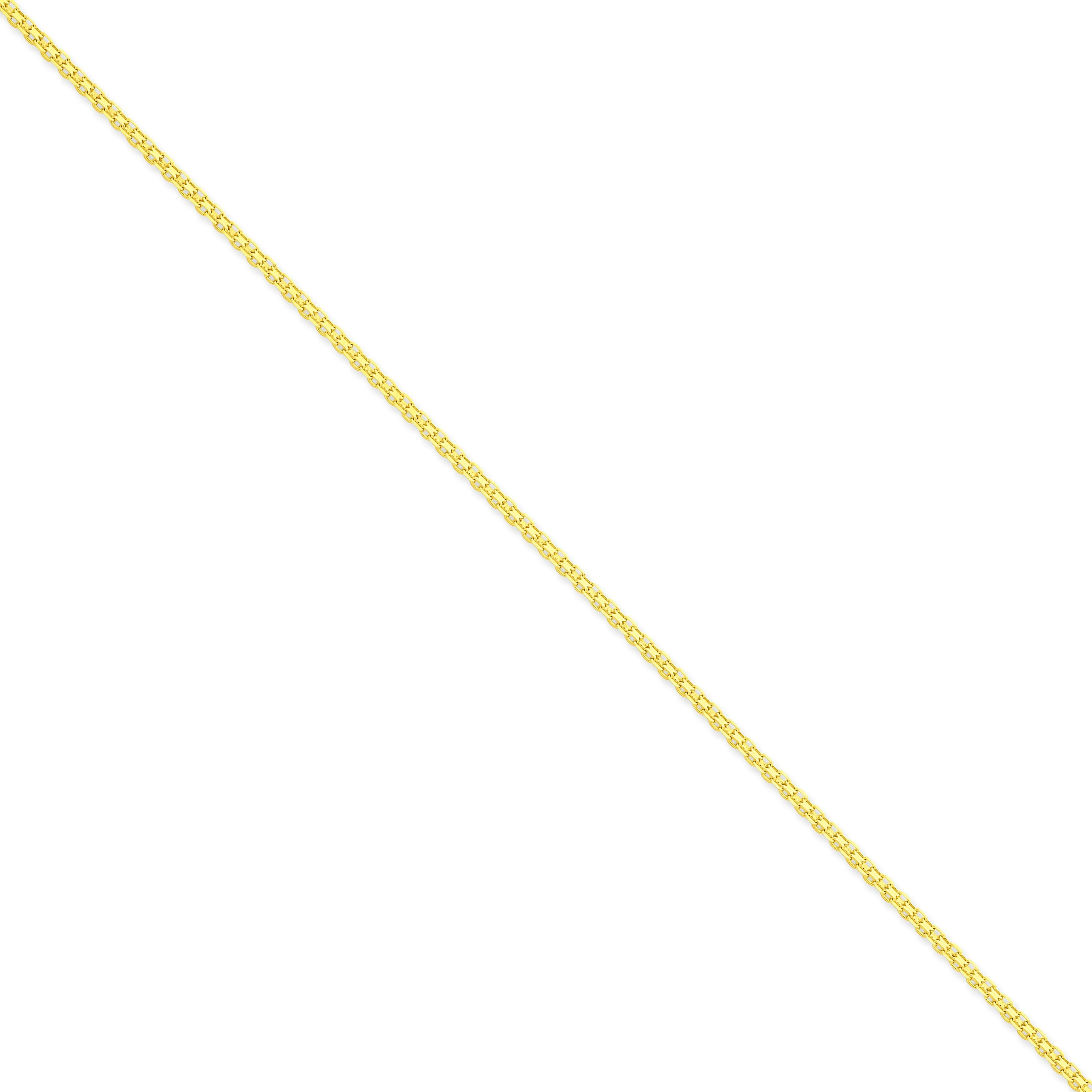 14k Yellow Gold 7 inch 2.00 mm Bismark Flat Chain Bracelet