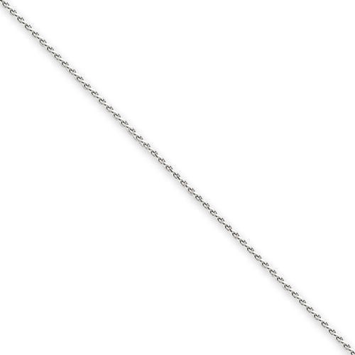 14k White Gold 16 inch 0.80 mm Diamond-cut Spiga Choker Necklace
