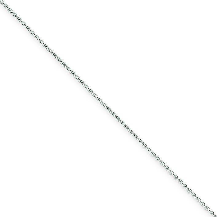 14k White Gold 6 inch 1.20 mm Diamond-cut Spiga Chain Bracelet