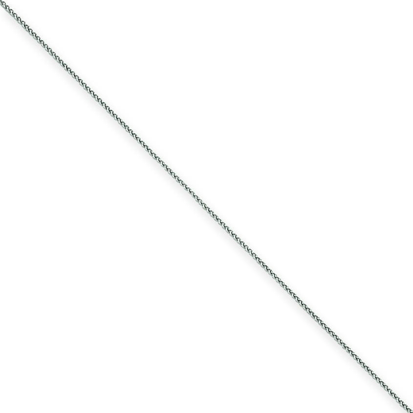 14k White Gold 6 inch 1.00 mm  Spiga Chain Bracelet