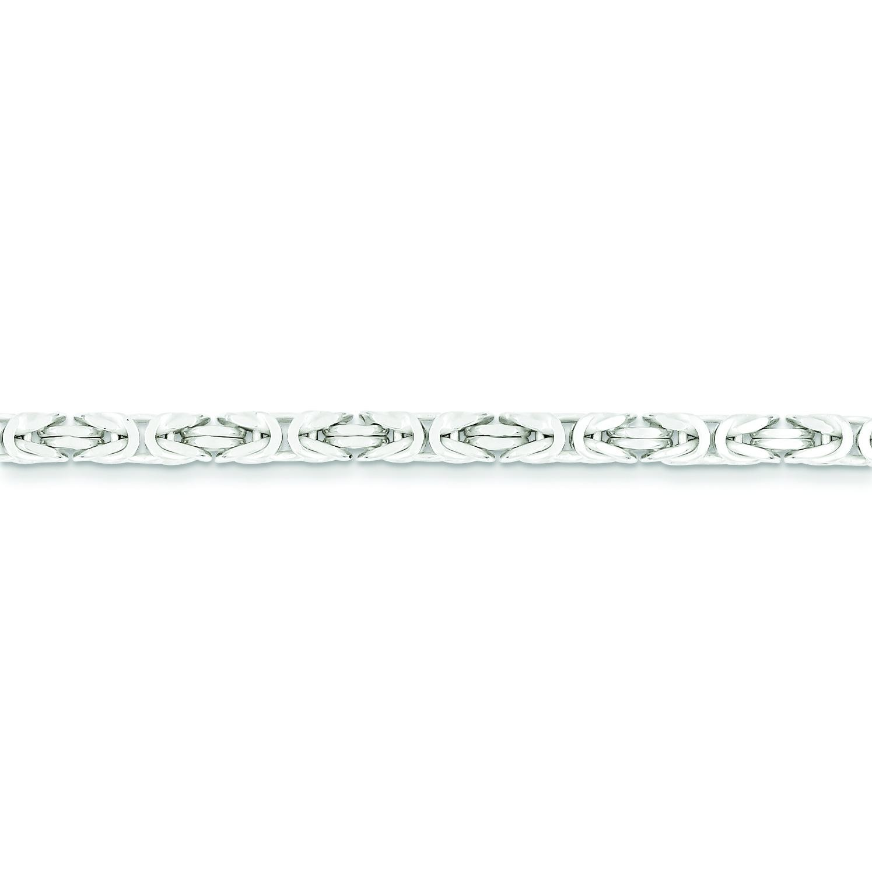 Sterling Silver 7 inch 3.25 mm  Byzantine Chain Bracelet