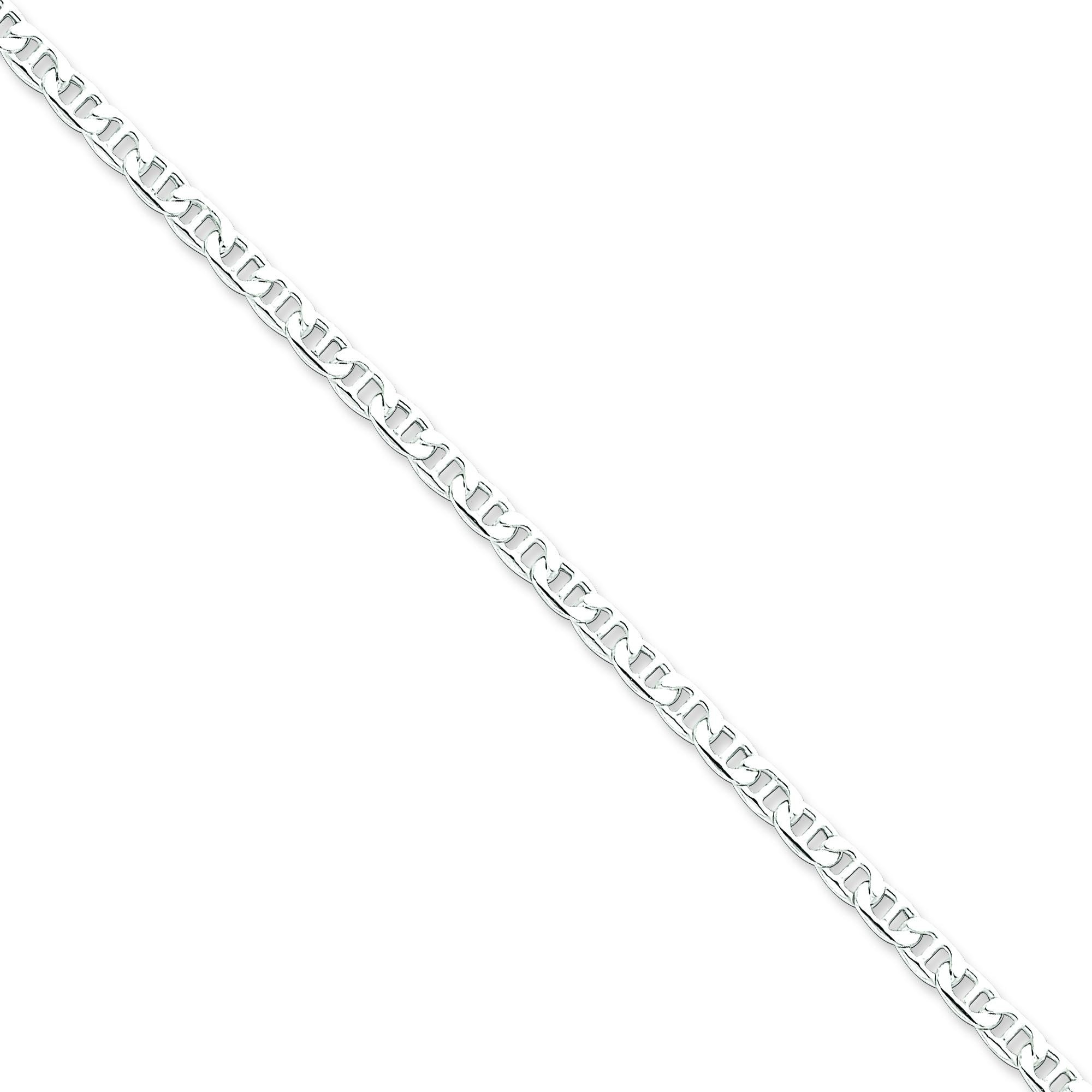 Sterling Silver 8 inch 4.00 mm Anchor Chain Bracelet