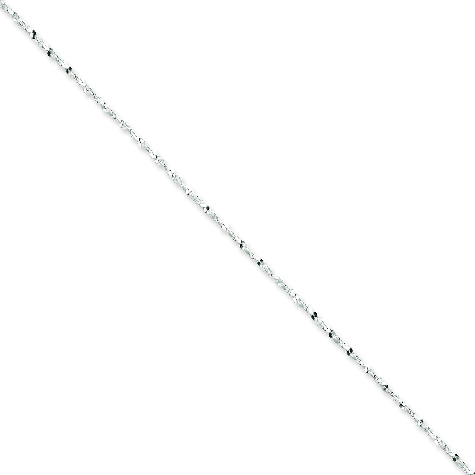 Sterling Silver 16 inch 1.40 mm Twisted Serpentine Fancy Choker Necklace