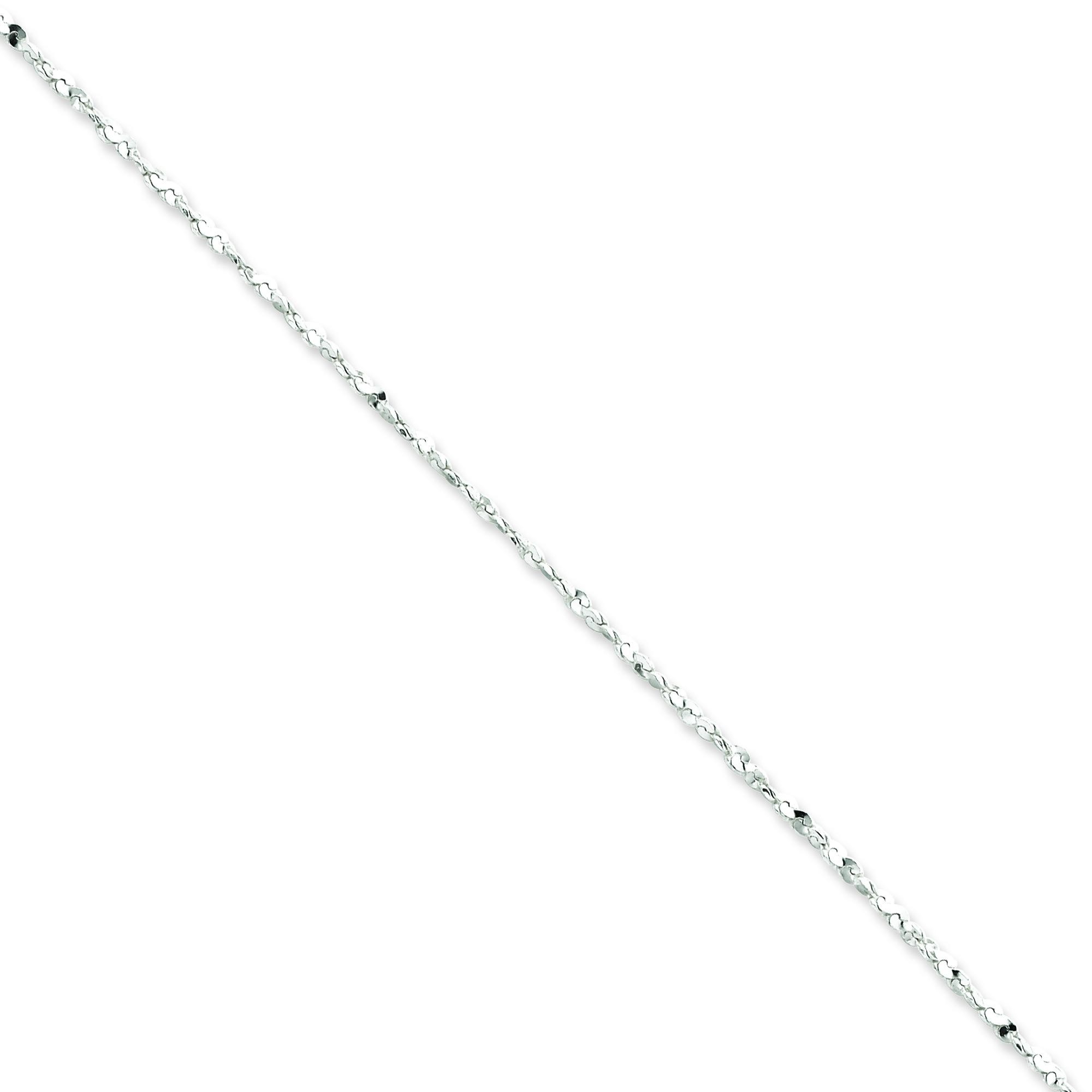Sterling Silver 16 inch 1.80 mm Twisted Serpentine Fancy Choker Necklace