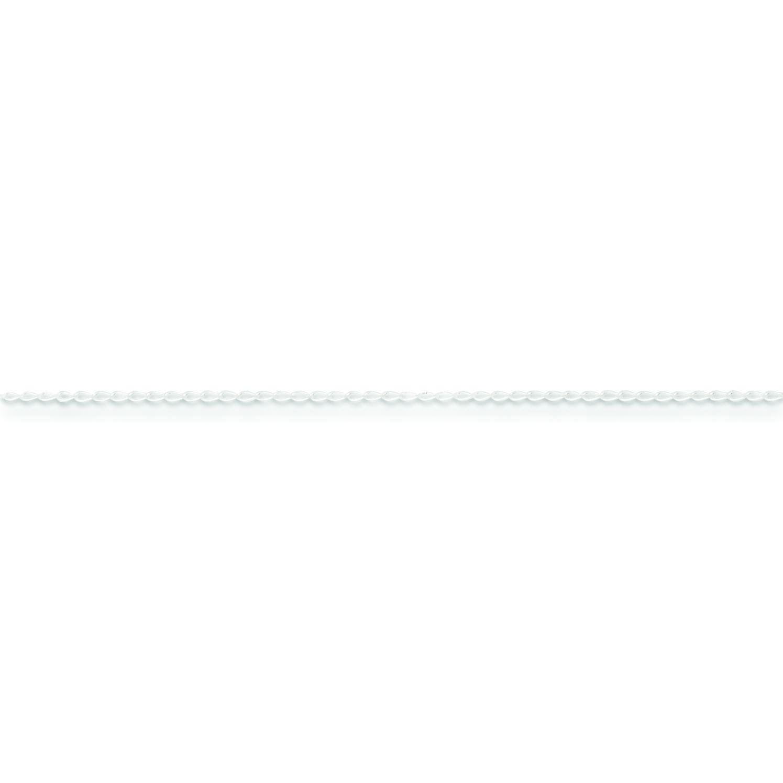 Sterling Silver 10 inch 0.50 mm Open Link Ankle Bracelet