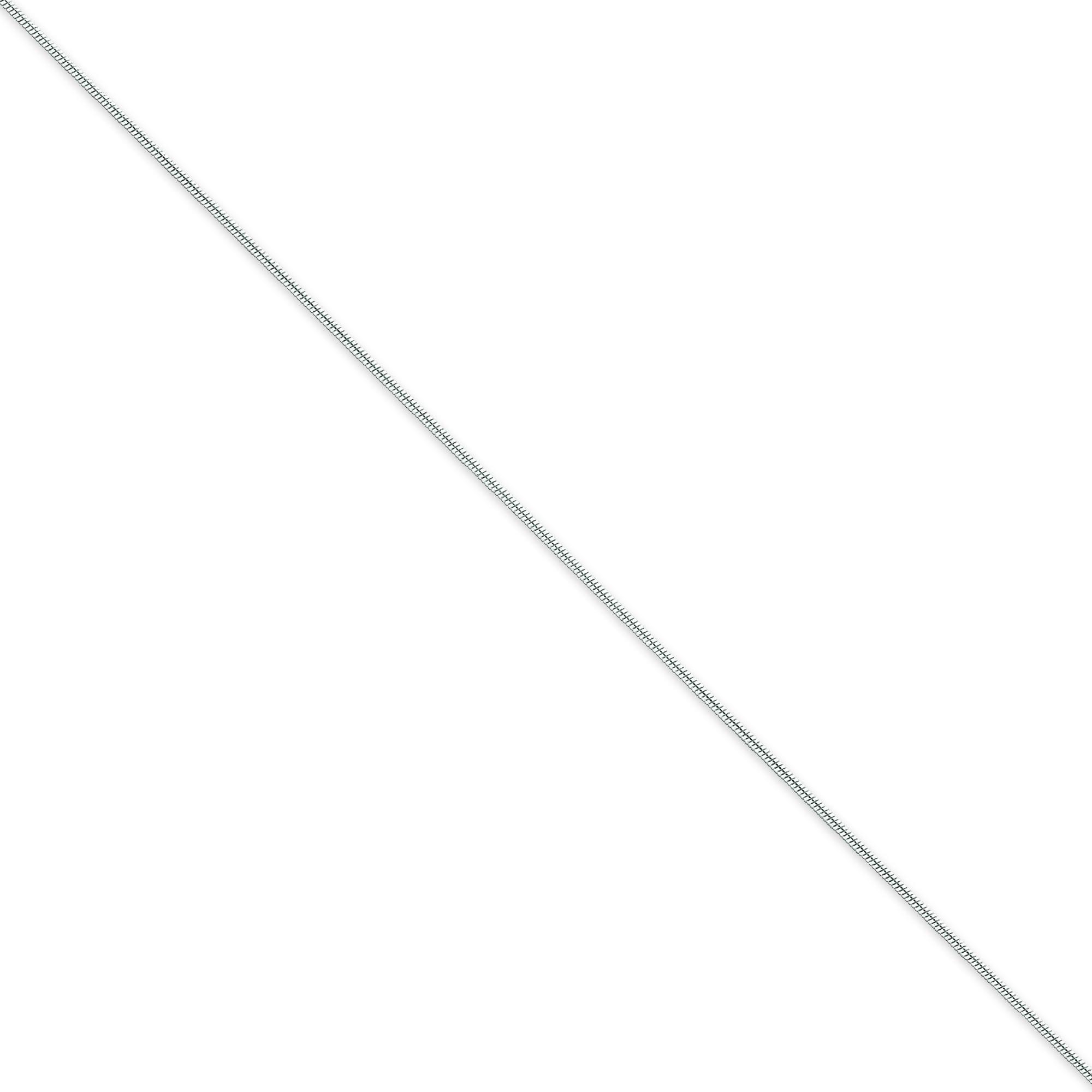 Sterling Silver 7 inch 0.80 mm  Snake Chain Bracelet