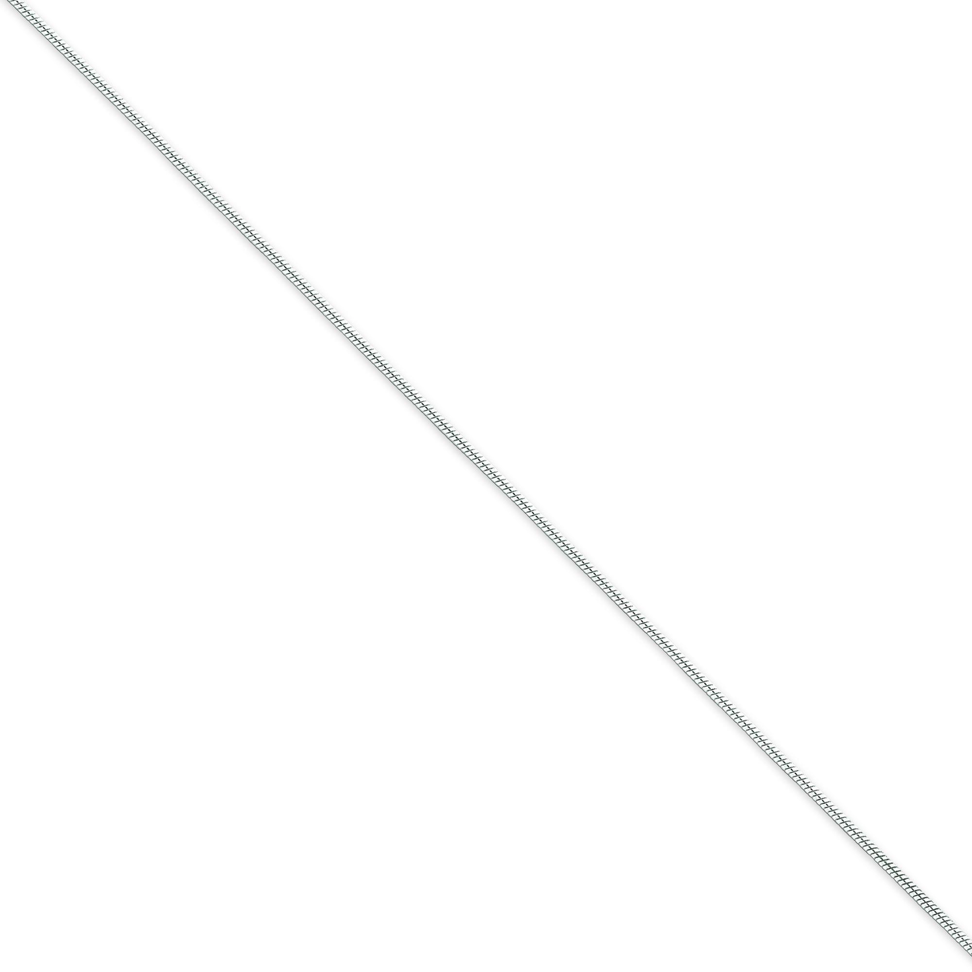 Sterling Silver 7 inch 1.00 mm  Snake Chain Bracelet
