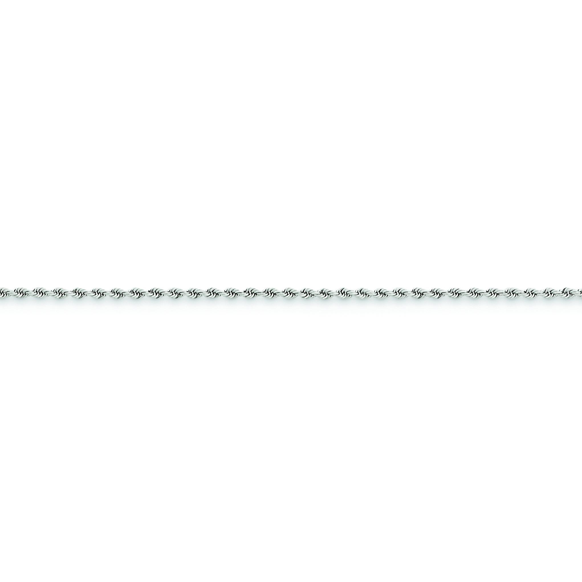 14k Yellow Gold 7 inch 1.75 mm Handmade Regular Rope Chain Bracelet