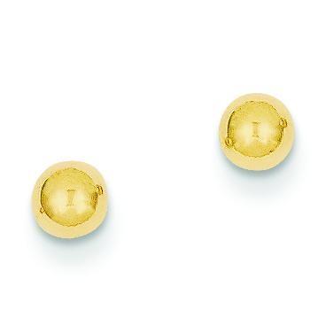 Ball Post Earrings in 14k Yellow Gold