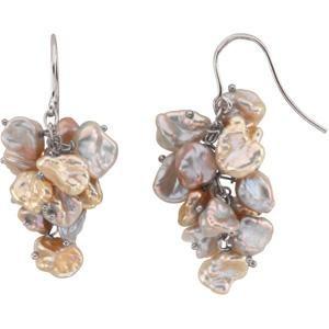 Multicolor Pearl Earrings in Sterling Silver
